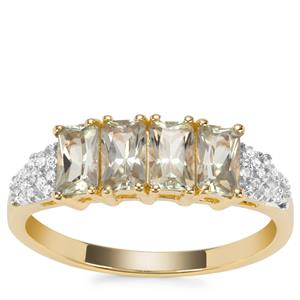 Csarite® Ring with Diamond in 9K Gold 1.23cts