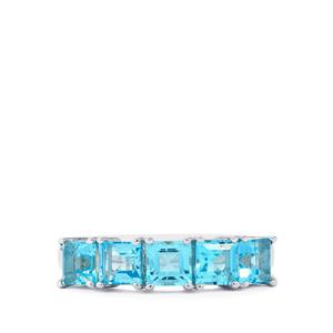 2ct Electric Blue Topaz Sterling Silver Ring