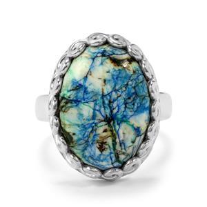 13ct Azurite Diopside Sterling Silver Aryonna Ring