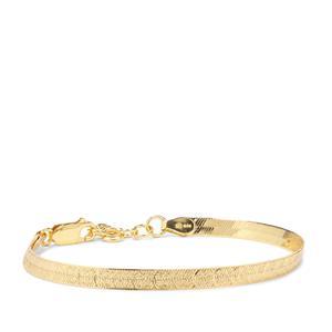"7"" Midas Altro Diamond Cut Herringbone Bracelet 3.71g"