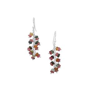 Multi-Colour Tourmaline Inspired By Colour Earrings in Sterling Silver 9cts