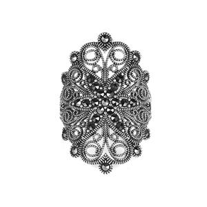 0.47ct Natural Marcasite Sterling Silver Jewels of Valais Ring