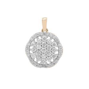 1ct Canadian Diamond 9K Gold Tomas Rae Pendant