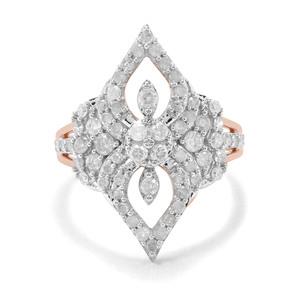 'Bucarest' 1ct First Class Diamond Ring 9K Rose Gold