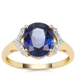 Nilamani Ring with White Zircon in 9K Gold 3.49cts