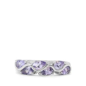 1.56ct Tanzanite Sterling Silver Ring