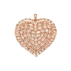 Mozambique Morganite Pendant in Rose Gold Plated Sterling Silver 15.44cts