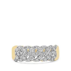 1/2ct Russian VSi Diamond 9K Gold Tomas Rae Ring