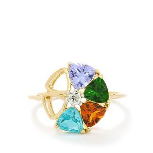 2.13ct Harlequin Gems 10K Gold Ring