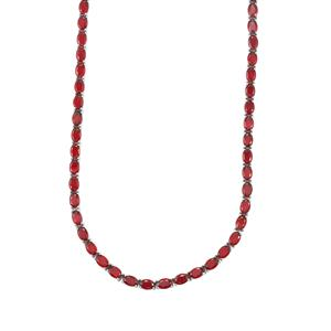 Malagasy Ruby Necklace in Sterling Silver 47.67cts (F)