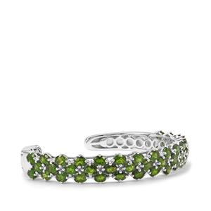 17.75ct Chrome Diopside Sterling Silver Cuff Bangle