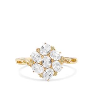 Ratanakiri Zircon & Yellow Sapphire 9K Gold Ring ATGW 1.88cts