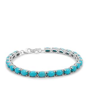 Sleeping Beauty Turquoise Bracelet in Sterling Silver 15.75cts