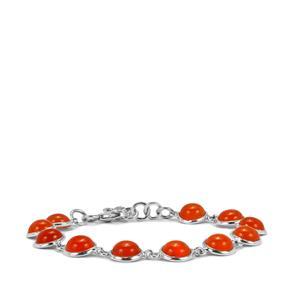 Carnelian Bracelet in Sterling Silver 20.76cts