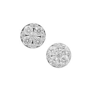 Diamond Earrings in Platinum 950 1cts