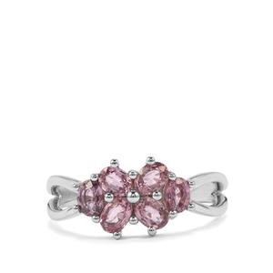 Sakaraha Pink Sapphire Ring in Sterling Silver 1.38cts