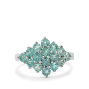 1.81ct Madagascan Blue Apatite Sterling Silver Ring