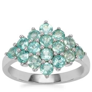 Madagascan Blue Apatite Ring in Sterling Silver 1.81cts