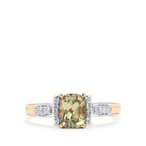 Csarite® & Diamond 18K Gold Ring MTGW 1.04cts