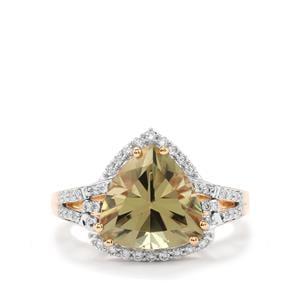 Csarite® & Diamond 18K Gold Lorique Ring MTGW 4.91cts