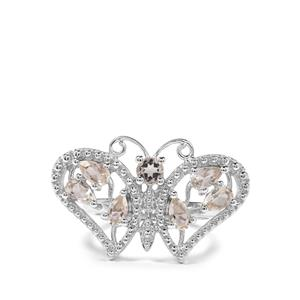 1.48ct Serenite Sterling Silver Butterfly Ring
