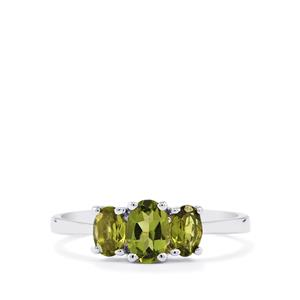 0.82ct Chrome Tourmaline Sterling Silver Ring