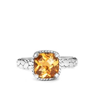 Citrine Samuel B Ring in Sterling Silver 3.25cts