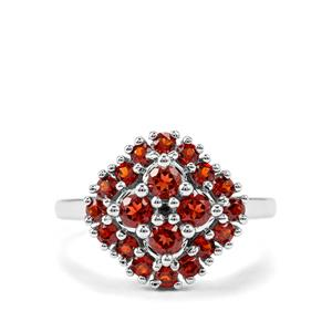 Anthill Garnet Ring in Sterling Silver 1.28cts