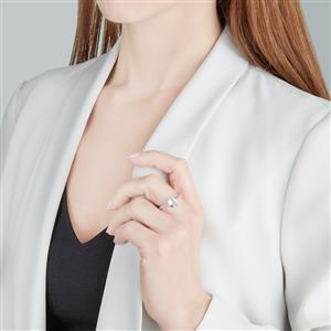 Espirito Santo Aquamarine & White Zircon 10K Gold Ring ATGW 1.71cts