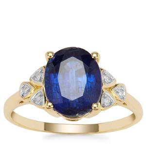 Nilamani Ring with Diamond in 9K Gold 3.54cts