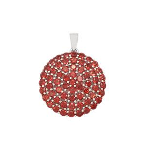 Nampula Garnet Pendant in Sterling Silver 8.44cts