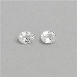Ceylon White Sapphire Loose stone  0.89ct