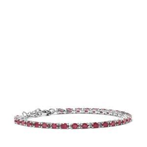 8.86ct Malagasy Ruby Sterling Silver Bracelet (F)