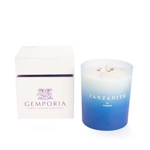 Ombre Birthstone Candle - Velvet Plumeria Fragrance with Tanzanite ATGW 6cts