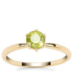 Ambilobe Sphene Ring in 9K Gold 0.79ct