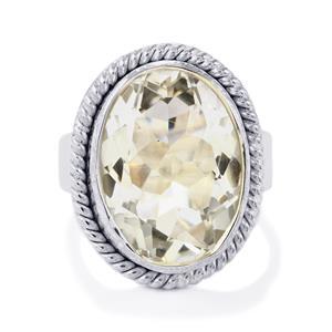 11.50ct Optic Quartz Sterling Silver Aryonna Ring