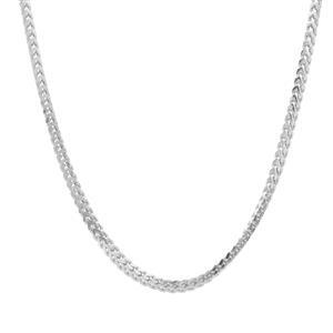 """22"""" Sterling Silver Tempo Diamond Cut Franco Slider Chain 3.32g"""