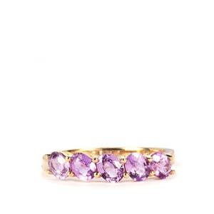 1.51ct Natural Purple Sapphire 9K Gold Ring