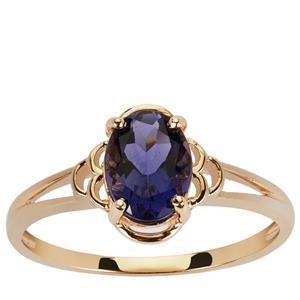 0.97ct Bengal Iolite 9K Gold Ring