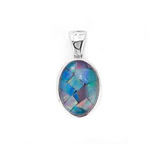 Mosaic Opal Sterling Silver Pendant