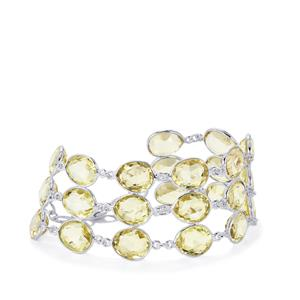 76.84ct Lemon Quartz Sterling Silver Aryonna  Bracelet