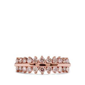 3/4ct Pink Diamond 18K Rose Gold Tomas Rae Ring