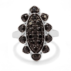 1.88ct Black Spinel Sterling Silver Ring