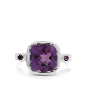 Amethyst Ring in Sterling Silver 3.86cts