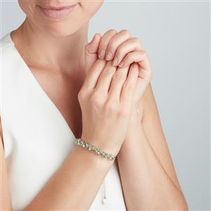 Lone Star Fern Green Quartz Slider Bracelet in Sterling Silver 12.67cts