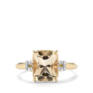 Serenite & Diamond 9K Gold Ring ATGW 3cts