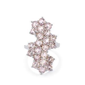 5ct Rose De France Amethyst Sterling Silver Ring