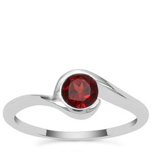 Garnet Ring in Sterling Silver 0.60ct