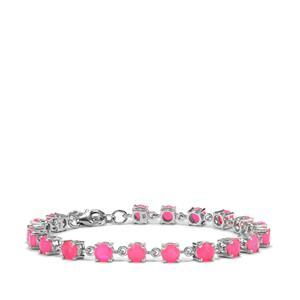 5.86ct Pink Opal Sterling Silver Bracelet