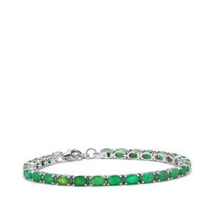 Green Opal Bracelet in Sterling Silver 7.80cts